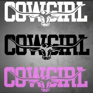 Cowgirl Stickers For Trucks Cowgirl Longhorn Decal Choice