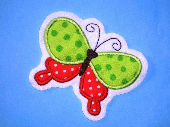 Aufnäher - Schmetterling Aufnäher Applikation - ein Designerstück von knuddelbunt-design bei DaWanda