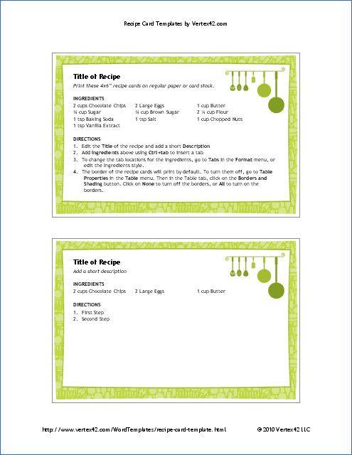 Microsoft Word Recipe Card Template Free Printable Recipe Card Template For Word Recipe Cards Template Printable Recipe Cards Note Card Template