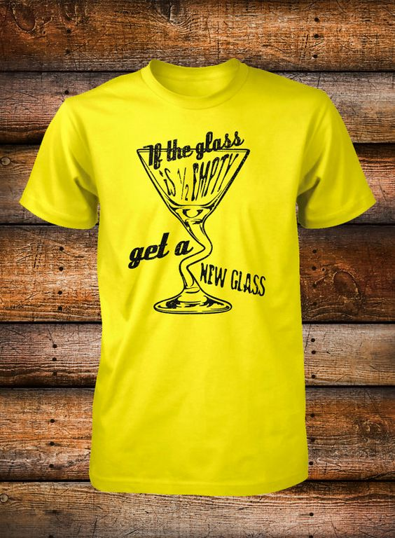 Martini Shirt Happy Hour Drinking If the Glass by FunhouseTshirts, $14.99