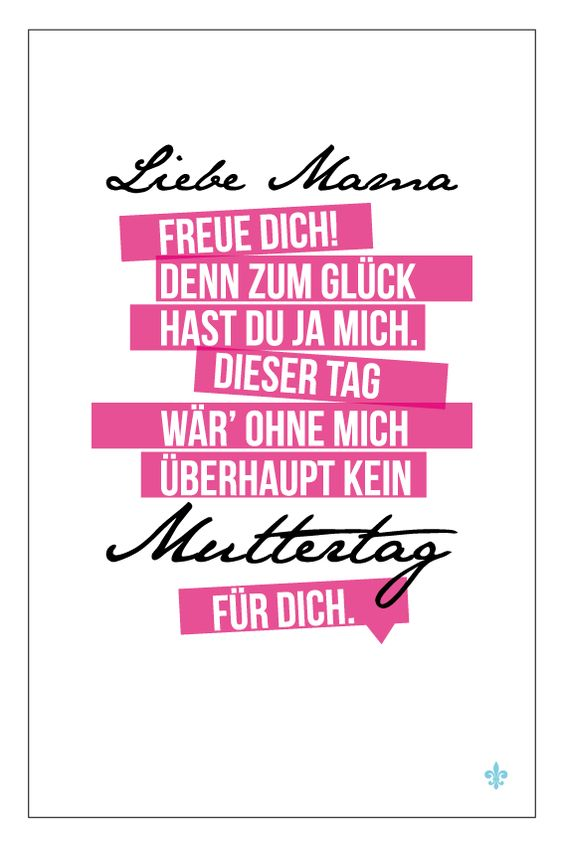 STIL ALLÜRE » Happy Muttertag – Grußkarte