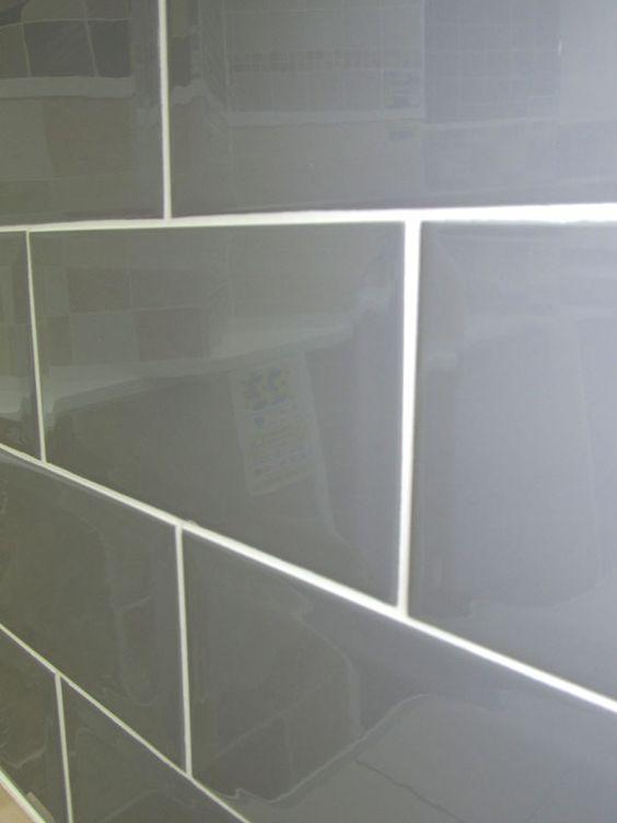 Metro Plata Brick Wall Tile 10x20cm Grey Coloured Bevelled Edge Tile Subwa