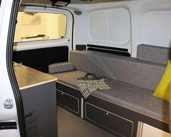 Bett sofa f r nissan nv200 mini camper 10 29 for Sofa und bett