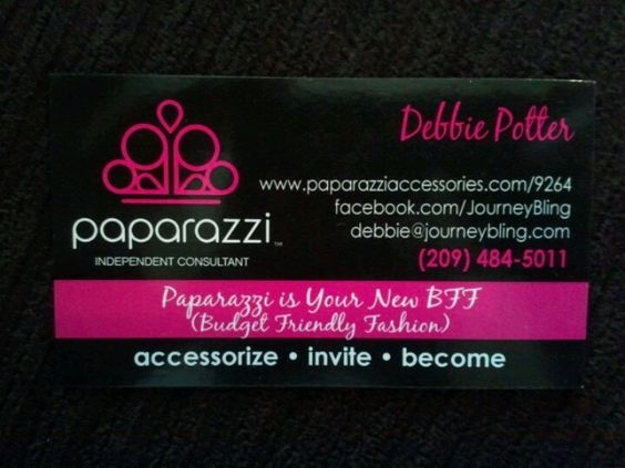 My New Business Cards So Pretty Debbie S Paparazzi