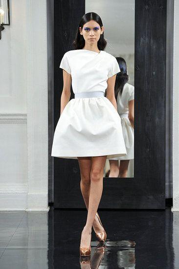 White Dress. Classic. Belted waiste. Full skirt. Short Dress ...