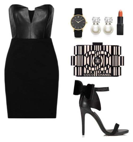 """""""My First Polyvore Outfit"""" by mjhancock ❤ liked on Polyvore featuring Chanel, Judith Jack, Larsson & Jennings, Barry M, Miss Selfridge and Mason by Michelle Mason"""