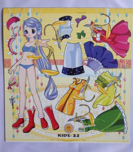 Set of 3 Uncut Paper dolls With Clothes,Mixed Styles,Cute,Period,Collectible