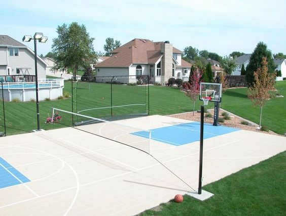 Perfect Backyard Completed With Multi Use Sport Court