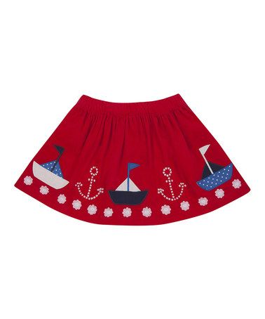 Red Boat Circle Skirt - Infant, Toddler & Girls by JoJo Maman Bébé #zulily #zulilyfinds