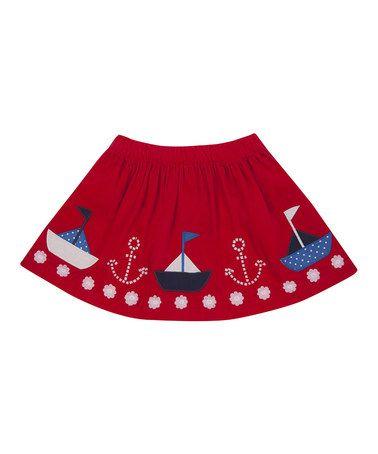 Red Boat Circle Skirt - Infant, Toddler & Girls by JoJo Maman Bébé #zulily #zulilyfinds