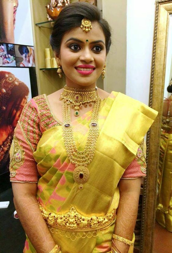 Elbow length Maggam work blouse designs and other blouses | FashionWorldHub.com: