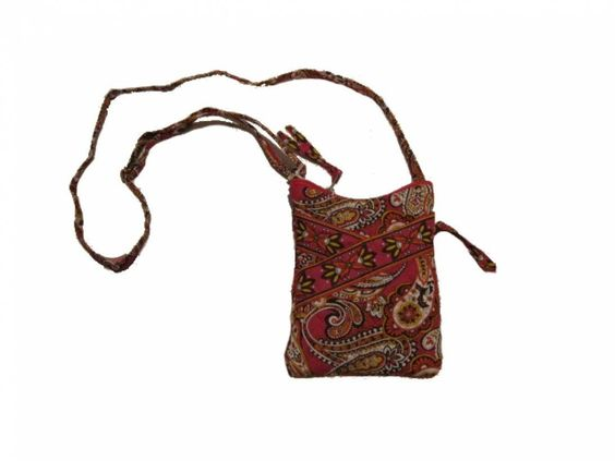 """Stephanie Dawn Mini Sling Sunset Paisley 10048-033. Dimensions: 6"""" x 8"""" x 0.5"""". Drop Length: Drop (distance from shoulder or handle to top of bag): 48"""" (adjustable). Made in: USA. Features of this item include: Quilted, Sling."""