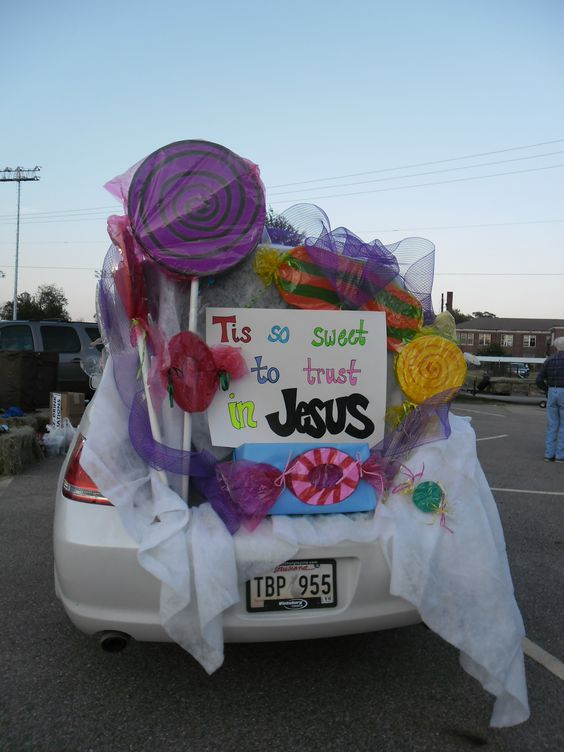 Carnival - Trunk or Treat - Tis so sweet to trust in Jesus Church - how to decorate your car for halloween