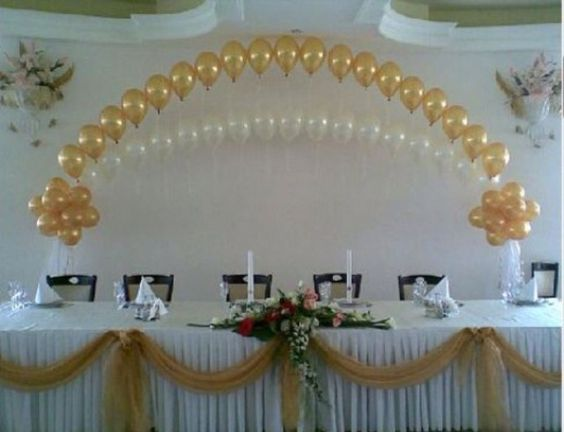 Balloon arch string of pearls and arches on pinterest for Balloon string decorations