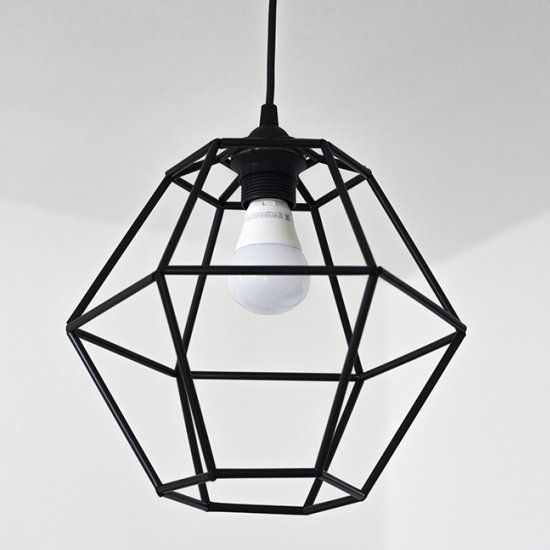 Make a trendy geometric pendant light fixture for under $10!: