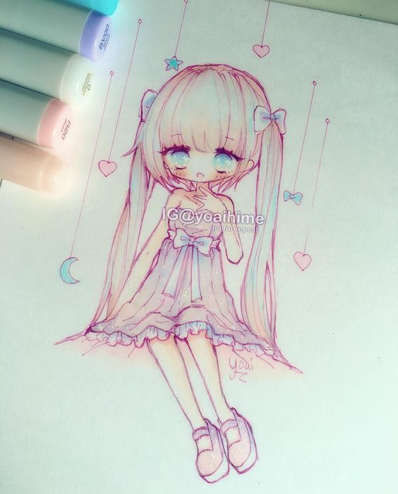 sometimes I get lazy with lines(・□・;)i hope everyone's having a wonderful day (・ω・)ノ ------MATERIALS: #micron #fineliner #copicmarkers #cansonpaper #bristol #uniball #gelpen ----------- #copic #copicart #chibi #kawaii #cute #moe #oc #sketch #pastel #instaart #instadraw #instaanime #instamanga #animeart #animegirl #mangagirl #drawing #illustration #art ----------- •Artwork (c) yoaihime •All Rights Reserved• Commercial use, re-uploading, modification/editing/manipulation, tracing, or reproduct...: