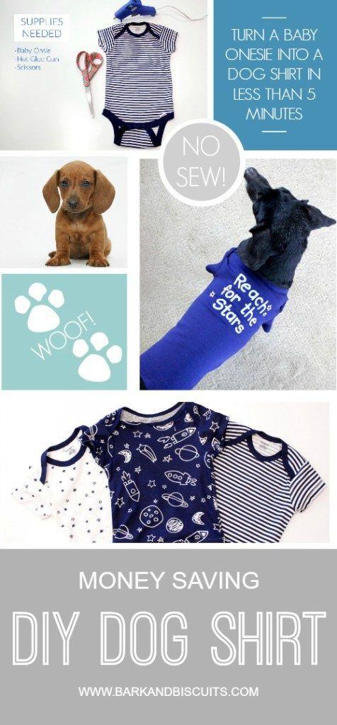 Money Saving No Sew Diy Dog Shirt Dog Sweaters Dog Shirt Dog Toys