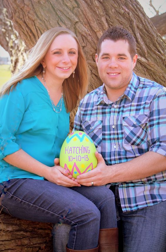 Easter Pregnancy announcement o Photo by Sylwia Bajek I like – Pinterest Baby Announcement Ideas