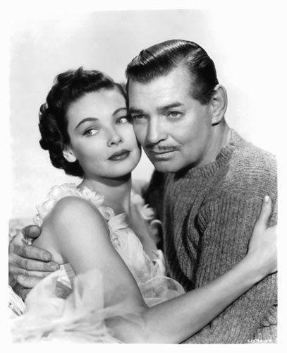 "Vintage Glamour Girls: Gene Tierney & Clark Gable in "" Never Let Me Go """