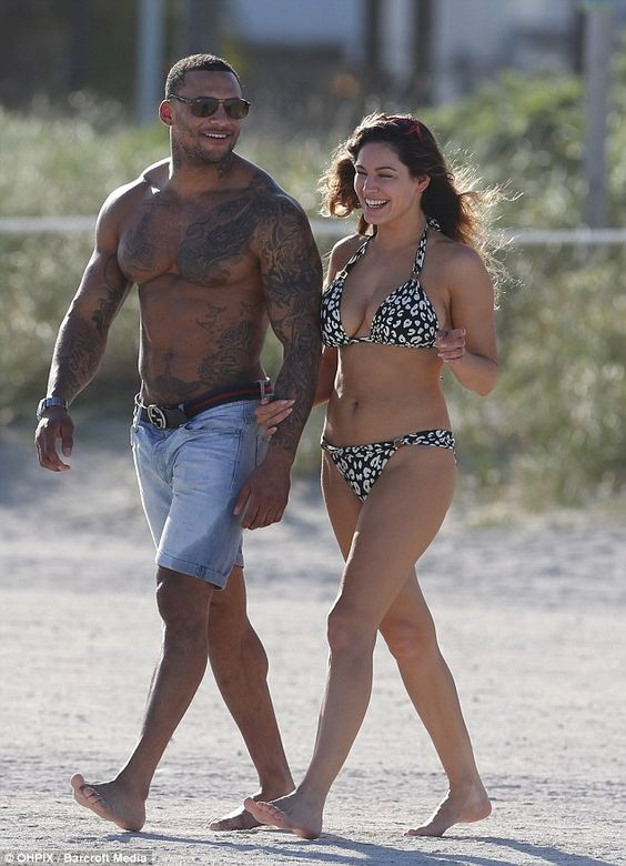 Kelly Brook and her muscle-packed current squeeze David McIntosh.