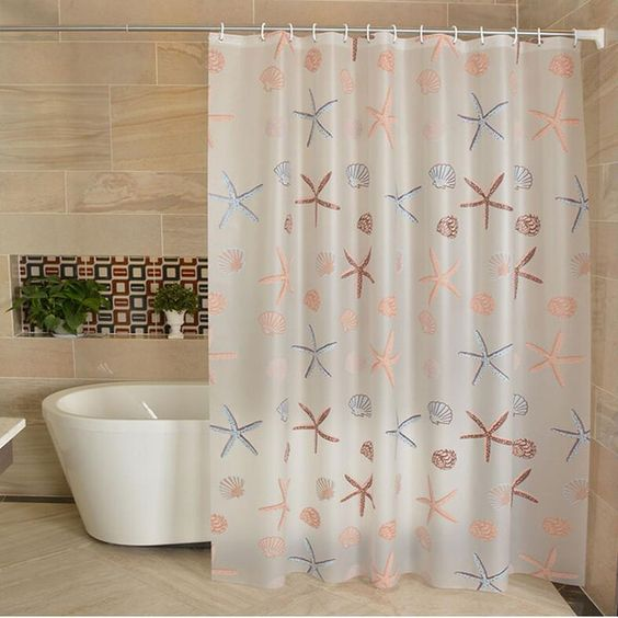 Peva 3d Waterproof Shower Curtain Transparent White Clear Bathroom