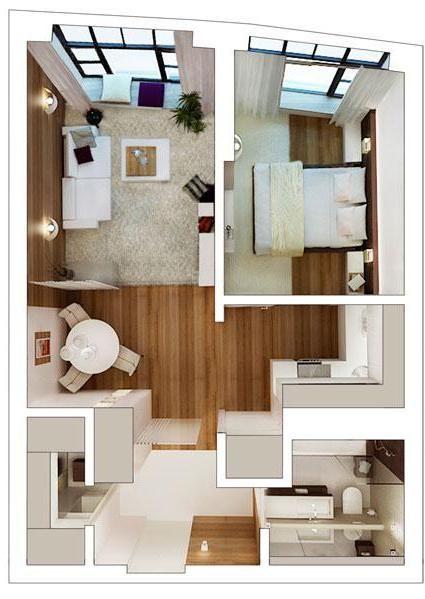 Agencement grand studio id es pour appartement pinterest petites maisons design et mise - Lay outs huis idee ...