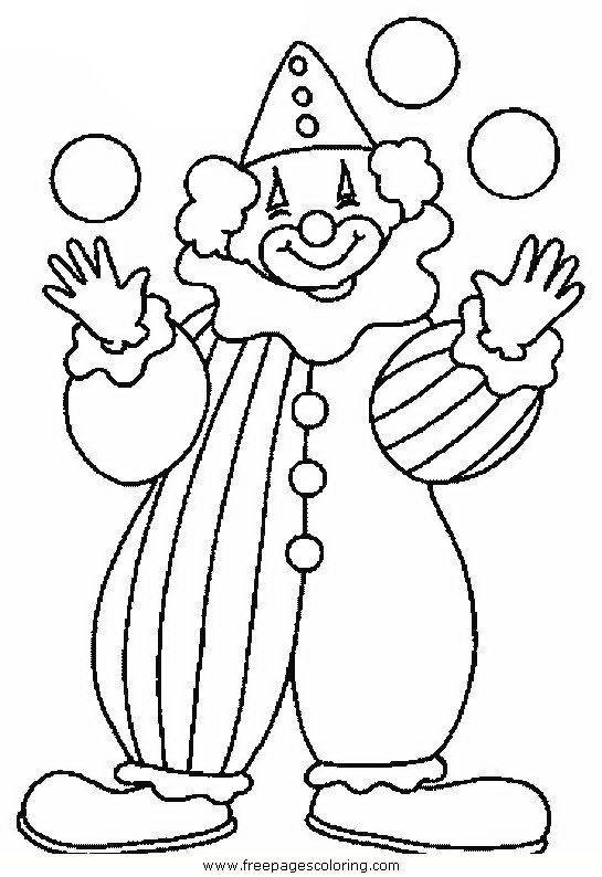 Clown Coloring Pages Ausmalbilder Fasching Clown Basteln Vorlage Ausmalbilder