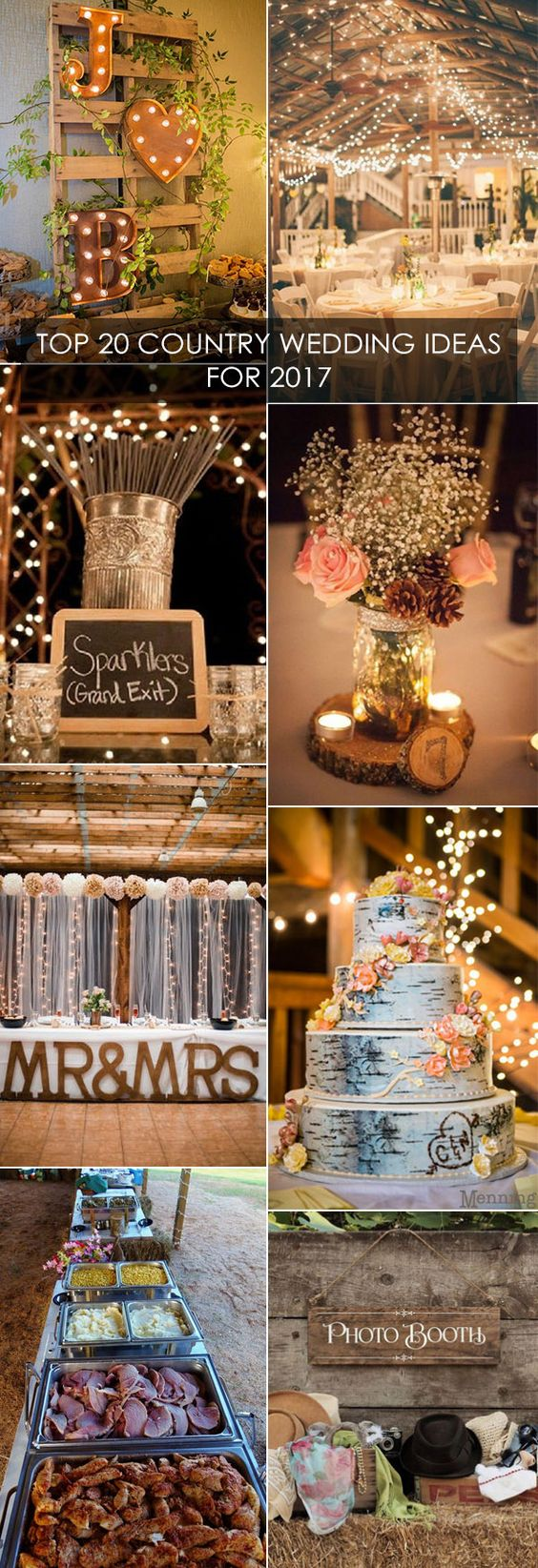 Top 20 Country Wedding Ideas You'll Love for 2017 Trends
