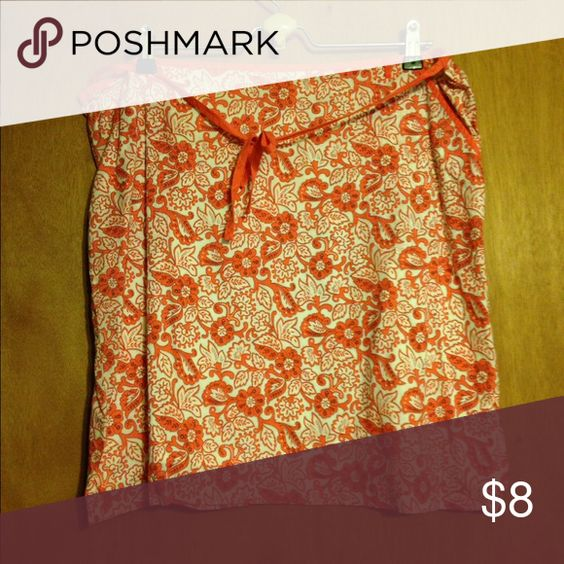 Flower pattern skirt Coral and white patterned skirt American Eagle Outfitters Skirts