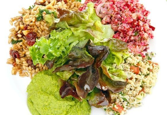 Dear SOS: I am eagerly and desperately looking to replicate the most delicious, amazing salad I have ever had. My fiancé and I are regulars at the Tender Greens in Culver City, and we finally tried its best dish on meatless Monday: the happy vegan . It successfully combines the tastiest health foods such as red quinoa salad, green hummus and farro, with toasted hazelnuts, all on one plate. Please help me with the recipe!