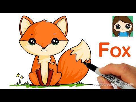 How To Draw An Elephant Easy Youtube Cute Fox Drawing Fox