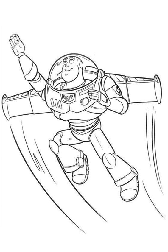 Buzzlightyear Flies Into The Sky Buzzlightyear Toystory