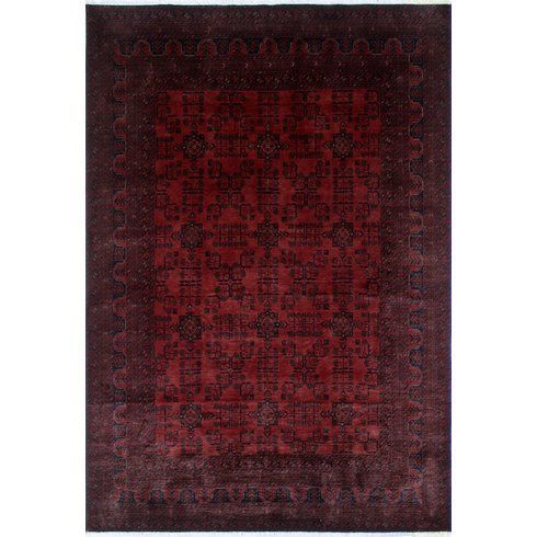 Alban Geometric Pattern Hand Knotted Rectangle Red Area Rug I Ordered This It Will Be Here 6 28 Along With A Pad Area Rugs Rugs Wool Area Rugs