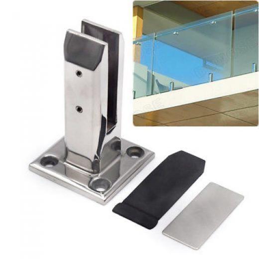 1x Stair Handrail Glass Spigots Pool Fence Frameless Balustrade Post Clamp Firm Mirror Or Satin 304 Stainless Steel Handrail Glass Pool Fencing Stair Handrail