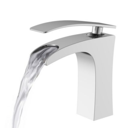 cooke lewis waterfall 1 lever basin mixer tap basin. Black Bedroom Furniture Sets. Home Design Ideas