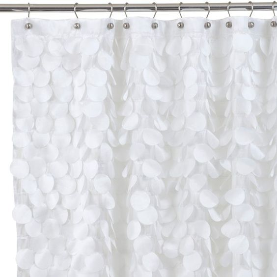 Curtains Ideas bed bath and beyond bathroom curtains : Gigi White Fabric Shower Curtain - Bed Bath & Beyond | Guest ...