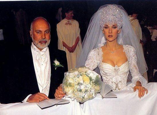 Celine Dion Wedding Photos In 2020 Wedding Dresses Celine Dion Wedding Celebrity Wedding Dresses