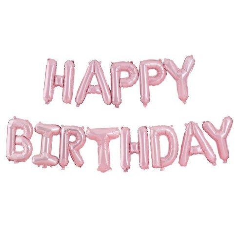 Happy Birthday Balloon Bunting Pink Ginger Ray Target Pink Happy Birthday Happy Birthday Balloons Happy Birthday Bunting