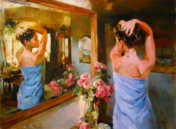 Michael e Inessa Garmash, un matrimonio ucraniano que pintan juntos desde que Inessa interviniera en la finalización en un cuadro pintado por su marido, Michael.