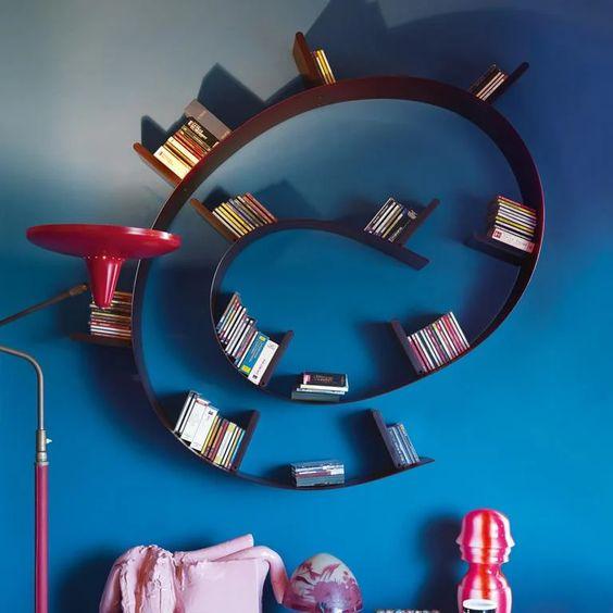 飾り棚 カルテル ブックワーム 本棚 シェルフ 壁 おしゃれ インテリア