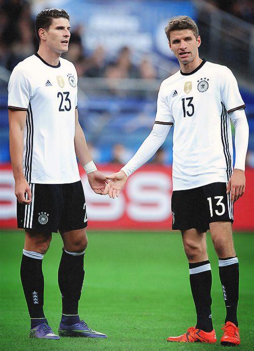 Mario Gomez and Thomas Muller.