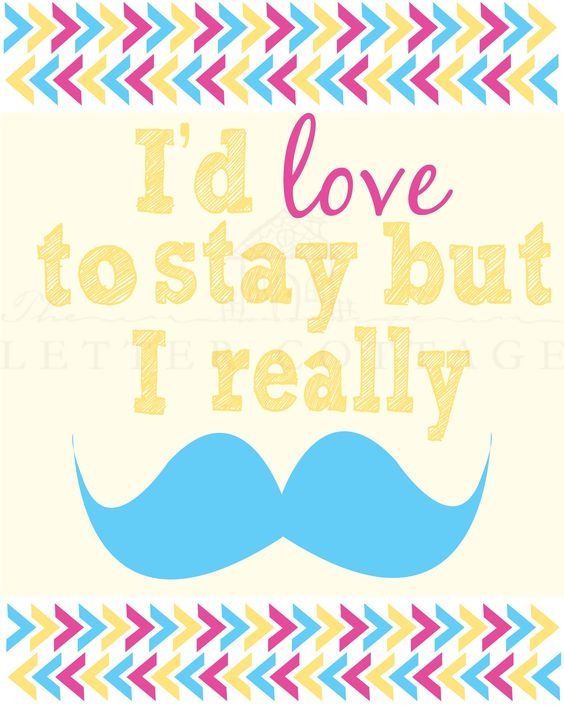 Moustache printable $4