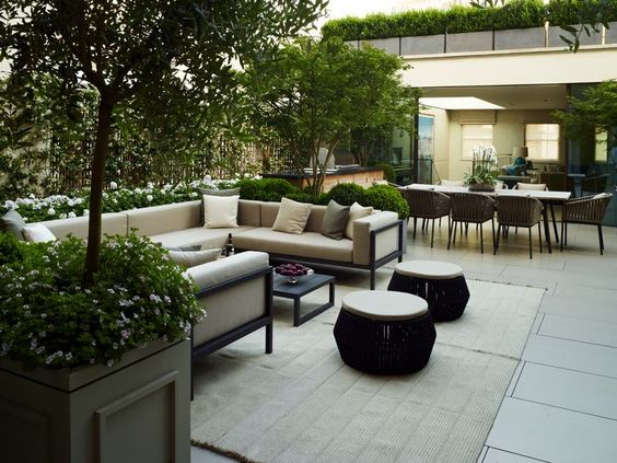 A London Roof Terrace Bowles  Wyer bespoke garden design London - Terrace Design