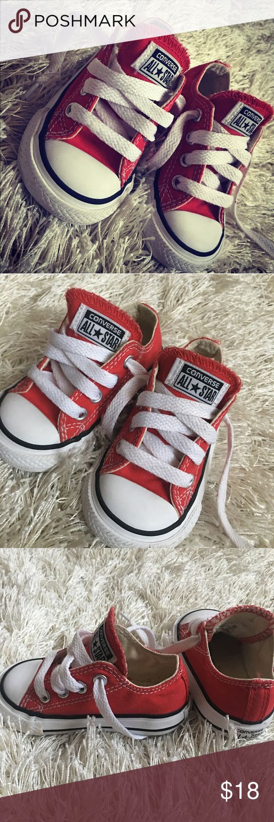 Red Converse Chuck Taylors No matter how many pair you have , you should always keep a pair of Classic Converse Red Chuck Taylors. These are gently worn Size 4C Converse Shoes Sneakers