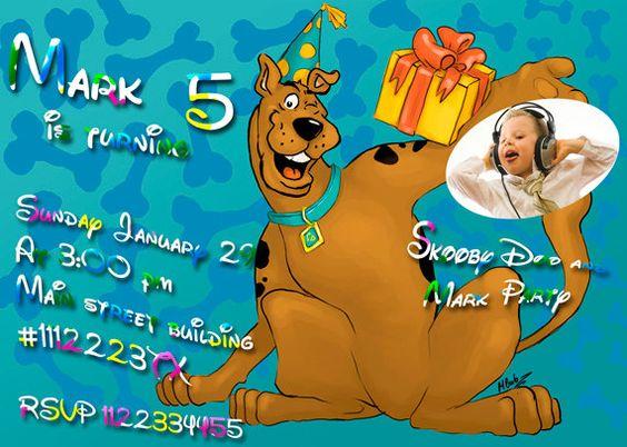 SALE 50 Scooby Doo Birthday Invitation  Printable by vitalydi, $5.00