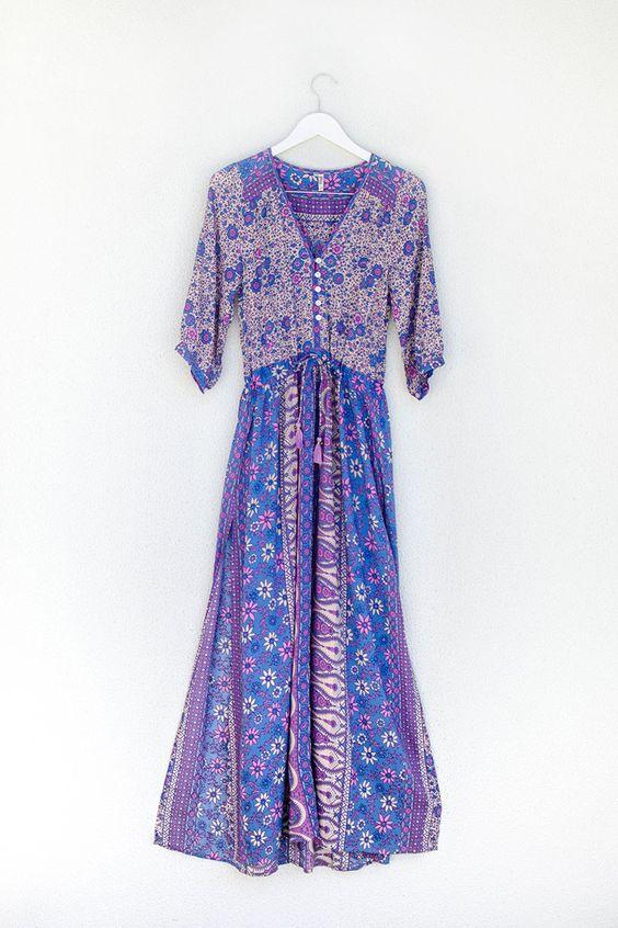 O neill india maxi dress purple