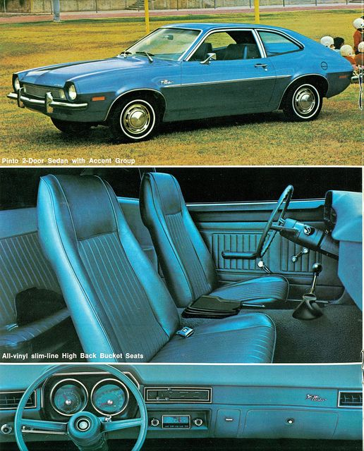 1972 Ford Pinto Two Door Sedan. The most dangerous, fire hazard on the road.