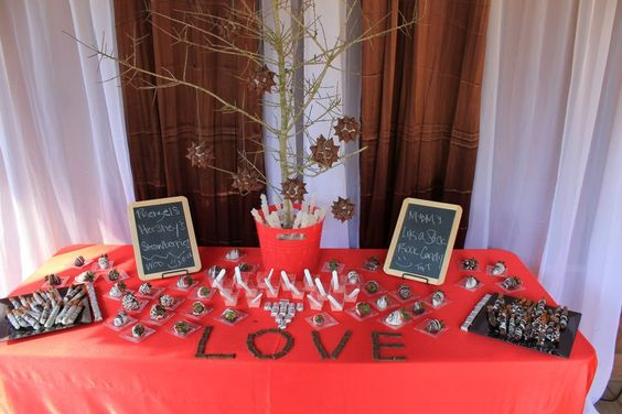 Our custom designed candy buffet! It was an absolute hit - especially with the kids!