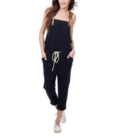 Look what I found on #zulily! Black Buckle-Strap Sleeveless Jumpsuit #zulilyfinds…also in white