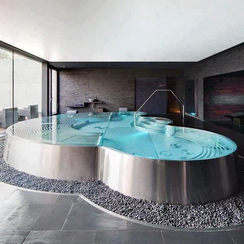 Who says you donu0027t have room for a pool? Hydrofloors variable - luxusbad whirlpool